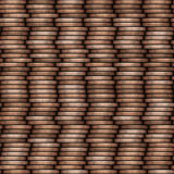 Coin stack seamless texture - coins in columns Stock Image
