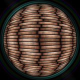 Coin stack seamless texture in objectiv or lens. Beautiful coin stack seamless texture - coins in columns Stock Image