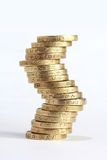 Coin stack zigzag shape Stock Photo