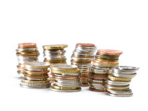Coin stacks Stock Photo