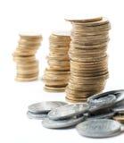 Coin stacks Royalty Free Stock Photos