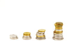 Coin stacks Royalty Free Stock Image