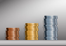Coin Stacks with background Royalty Free Stock Image