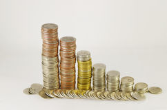Coin stacks Royalty Free Stock Images