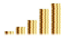 Coin stacks Royalty Free Stock Photo