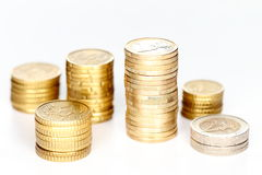 Coin stacks Royalty Free Stock Photography