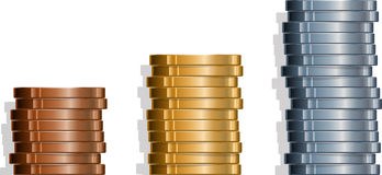 Coin Stacks Stock Image