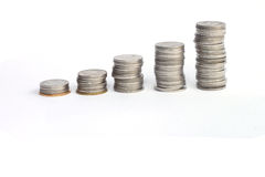 Coin stacks. Stock Image