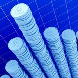 Coin and stat background royalty free stock photography