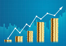 Coin stock chart Royalty Free Stock Photo