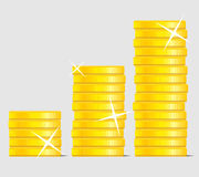 Coin stock. Success currency business wealth. Vector graphic illustration Royalty Free Stock Images