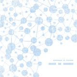 Coin testile de cadre de texture de molécules bleues Photo libre de droits