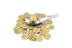 Coin thai bath Royalty Free Stock Photos