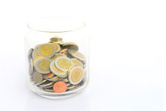 Coin of Thailand in jar Stock Photos
