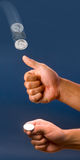 Coin Toss. Royalty Free Stock Photo