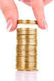 Coin tower Stock Images