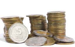 Coin treasure royalty free stock photos