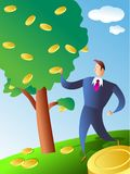 Coin tree royalty free illustration