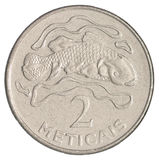 Coin two meticals Royalty Free Stock Images