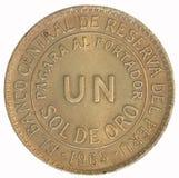 Coin. Un Sol de oro. Peru. Avers Royalty Free Stock Photos