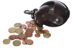 Coin wallet royalty free stock images