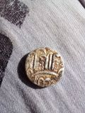 14th Century coin. The Coin which belongs to 14th Century Royalty Free Stock Images