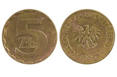 Coin 5 zloty. Poland Stock Images