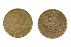 Coin 2 zloty. Poland Stock Image