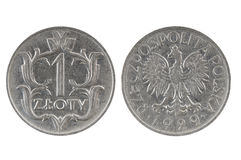 Coin 1 zloty. Poland Stock Photography