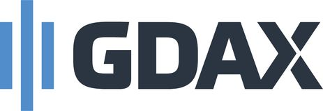 GDAX cryptocurrency network icon. Coinbase is a digital currency exchange headquartered in San Francisco, California. They broker exchanges of Bitcoin, Bitcoin vector illustration