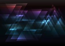 Coincidencia oscura del triángulo del extracto del arco iris Foto de archivo libre de regalías