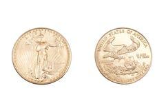 Coing Gold Lizenzfreies Stockbild