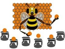 Coinhive cryptocurrencybitcoin som bryter i rengöringsdukwebbläsaren royaltyfri illustrationer