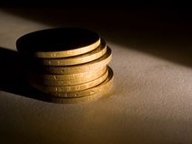 Coins [1]. Some coins Royalty Free Stock Image
