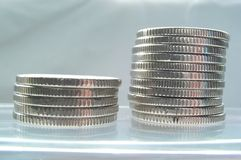 Coins. Moneypile royalty free stock photography