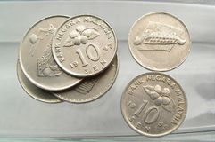 Coins. Sen - Malaysia royalty free stock images