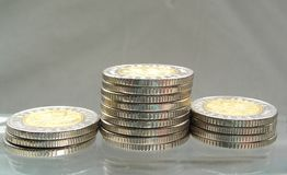 Coins. Moneypile royalty free stock photo