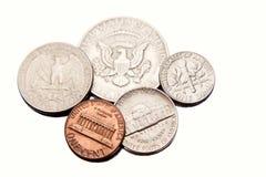 coins royaltyfria bilder