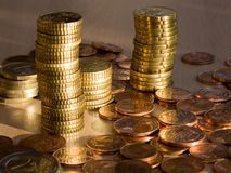 Coins. Euro coins Royalty Free Stock Photo