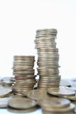 Coins. Stacked coins Royalty Free Stock Image