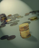 The Coins!. Russian money, coins, pile of the coins Stock Photos