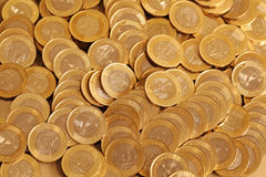 Coins. Group of gold coins business money Stock Images