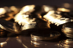 Coins. Group of gold coins business money Royalty Free Stock Photography
