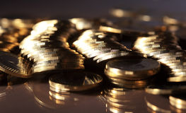 Coins. Group of coins business money Stock Photography