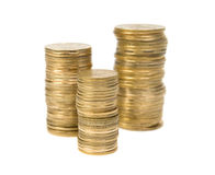 Coins. Isolated on white background royalty free stock photos