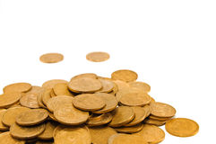 Coins. Ukrainian coins isolated on whte Stock Photography