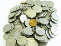 Coins. Swedish coins on a table Royalty Free Stock Photos