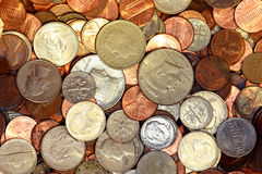 Coins 2. Top view of coins Royalty Free Stock Photo