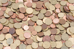Coins_2. Whole lot of euro coins Stock Photography