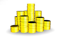 Coins. 3d pile of coins Stock Image